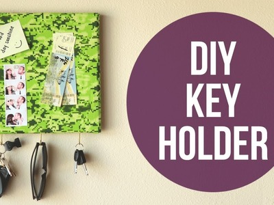 Easy DIY Wall Key Holder | cathydiep