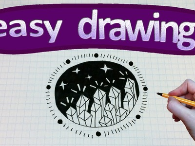 Easy drawings #133  How to draw a crystals