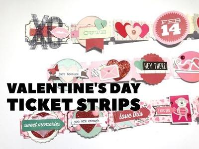 Embellished Ticket Strip Tutorial | Valentine's Day (Snail Mail Idea)❤️