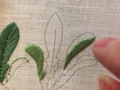 Embroidery - Satin Stitch for Leaves