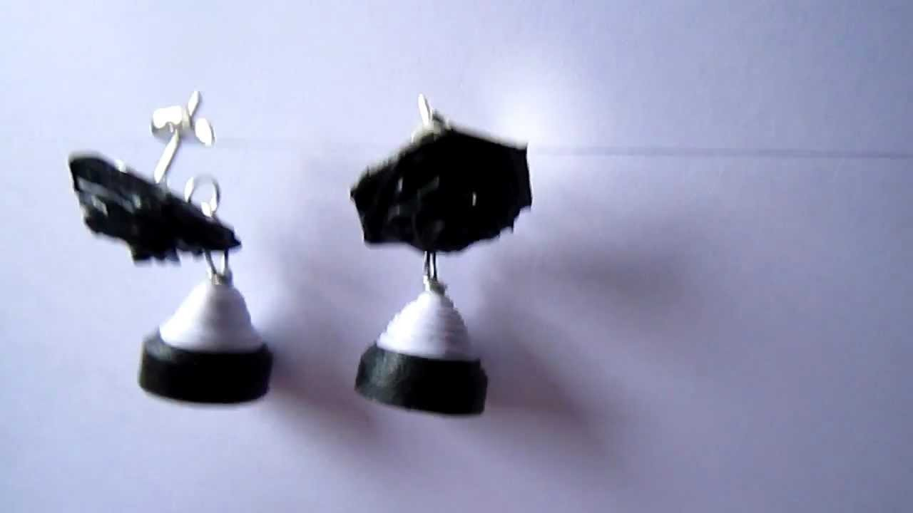 how to make paper earrings video