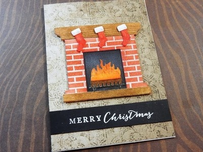 Holiday Card Series 2016 | Day 22 of 25 | MFT Fireplace Die