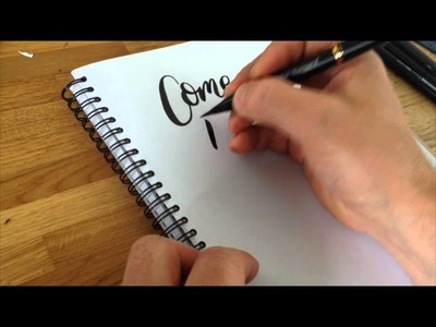 How I Write with a Brush Pen