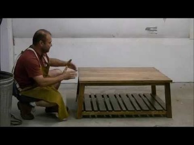 How to build a simple coffee table. I'm useing scraps and the vertical bandsaw. Easy project.