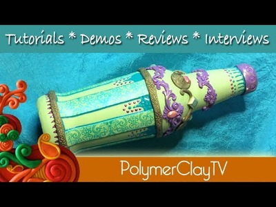How to cover a glass beer bottle with polymer clay to decorate and recycle