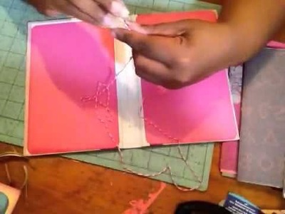 HOW to- cover & stitch a junk journal tutorial 2.2