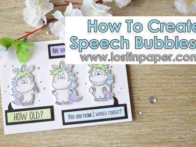 How to Create Speech Bubbles - Moody Unicorns from Gerda Steiner Designs