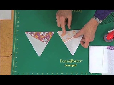 How to Cut Pre-Pieced 60 Degree Triangles from Strip Sets