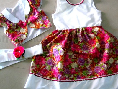 HOW TO CUT & SEW FLOWER GIRL PROMO DRESS & BOLERO JACKET -STEP BY STEP - DIY