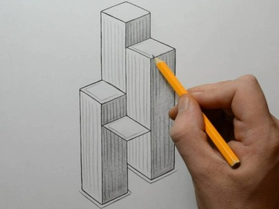 How to Draw Skyscrapers Optical Illusion