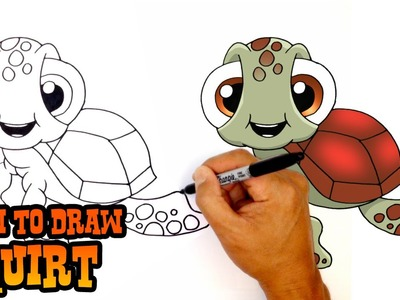 How to Draw Squirt   Finding Dory