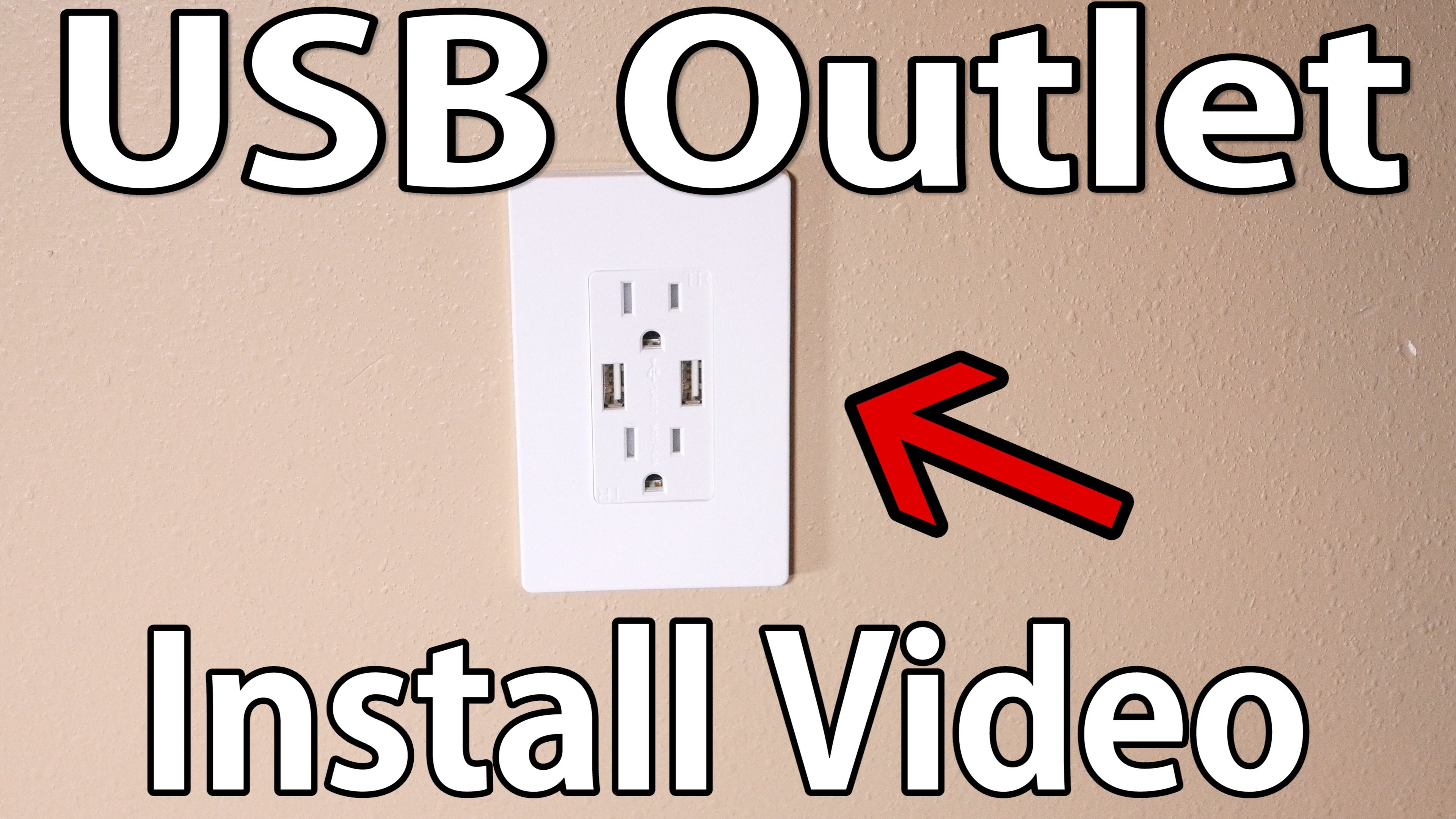How to install USB wall outlet