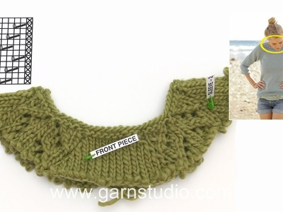 How to knit A.1 and increase to raglan in DROPS 175-1