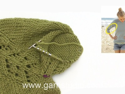 How to knit A.2 and how to decrease under the sleeve in DROPS 175-1