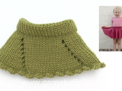 How to knit the skirt in DROPS Children 28-9