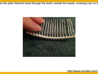 How to Make a Beaded Hair Comb