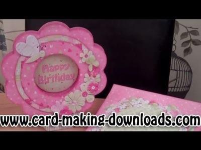 How To Make A Flower Shape Card www.card-making-downloads.com