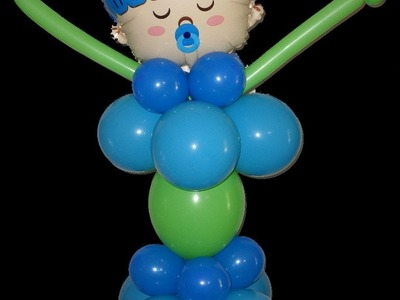 "How to make a Standing ""Pick Me Up"" Baby Shower Balloon Centerpiece"