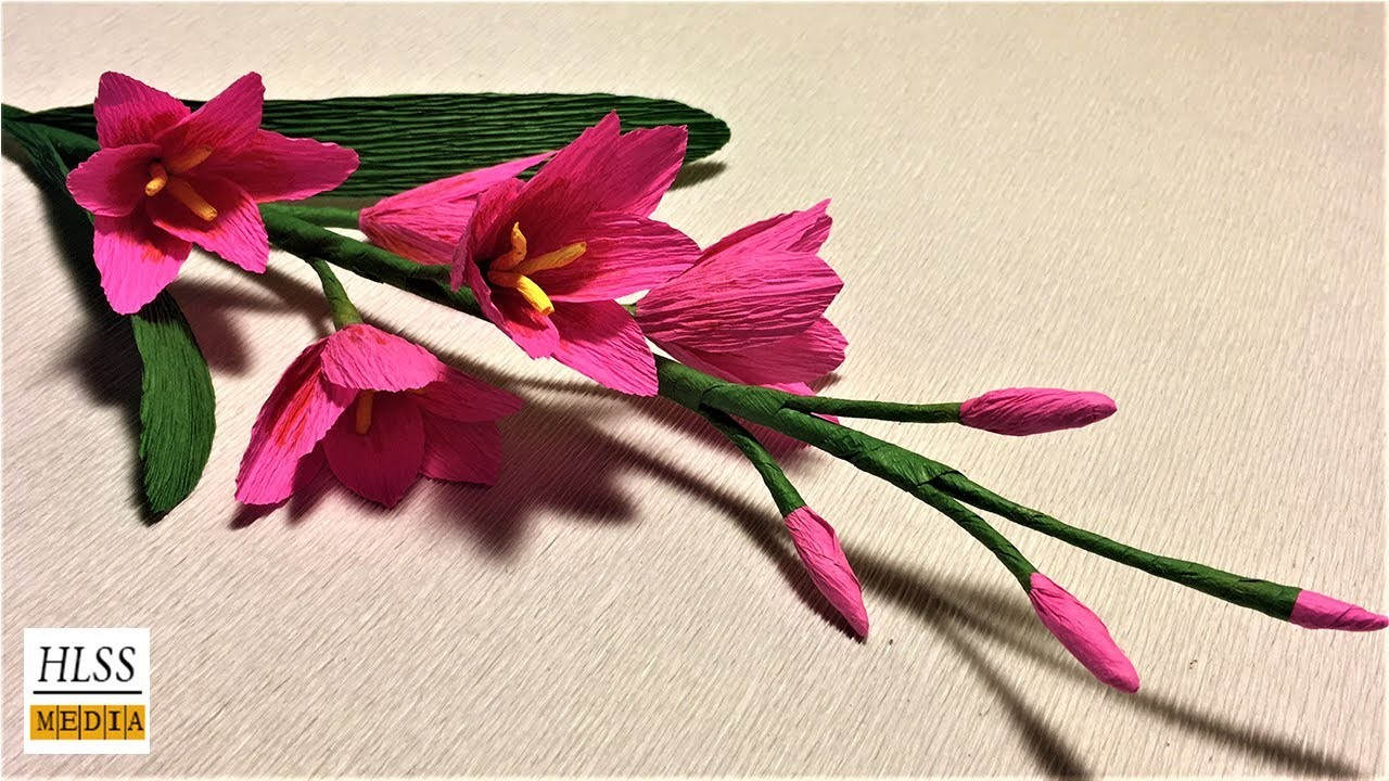 Lily flower making with crepe paper flowers healthy how to make african corn lily paper flower african corn lily crepe paper flower making tutorials mightylinksfo