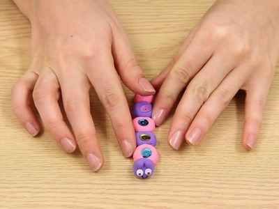 How to make an air dry clay caterpillar