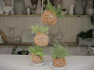 How to make Hanging Kitchen Herbs Tutorial