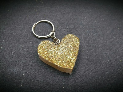 How to make heart shape keychain using hot glue gun