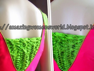 HOW TO MAKE SMOCKING DESIGNER BLOUSE - STEP BY STEP IN EASY WAY