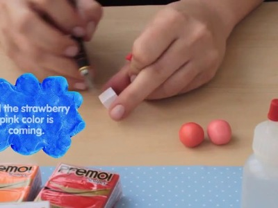 How To Mix Polymer Clay Colors. 3 Pink Shades : Strawberry , Rose and Carmine