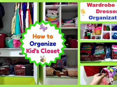 How to organize kids Clothes - Dresser - Toys - DIY organization tips  - Kids Room Tour Part 2