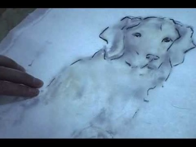 How to Trace a Painting on Rice Paper with Light Box