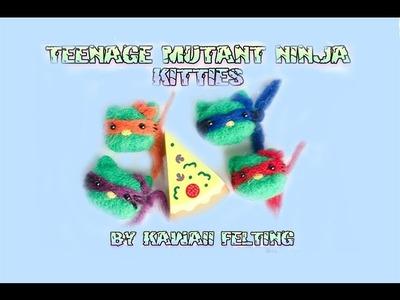 Kawaii Felting: DIY Hello Kitty Teenage Mutant Ninja Turtles Mash Up