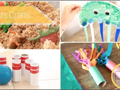 Kids Crafts & Games (Dinosaur Excavation, Bowling Pins, Ring Toss)