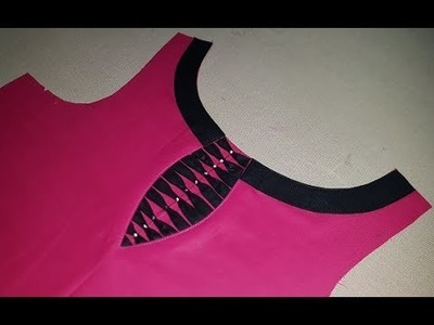Latest Front Boat Neck Designs Cutting and Stitching