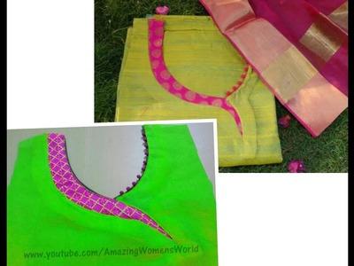 Latest  Neck  Design for KAMEEZ. KURTI Cutting & Stitching - (DIY)