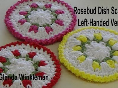 Left Handed Version Double sided Rosebud Dish scrubber