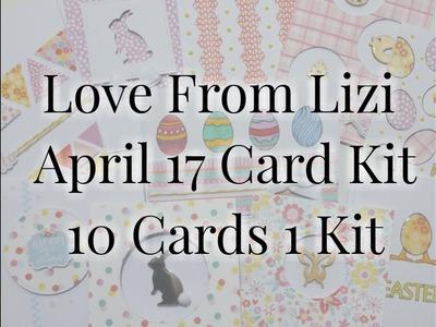 Love From Lizi April 17 10 Cards 1 kit