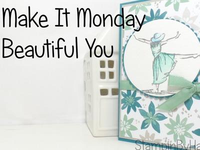 Make it Monday | Beautiful You Card using Stampin' Up! UK Watercolour Pencils