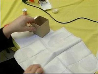 Making a Decoupage Piggy Bank : Cutting Napkins for Making a Decoupage Piggy Bank