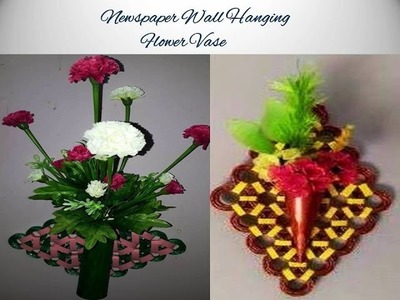 Making a wall hanging flower vase using newspaper