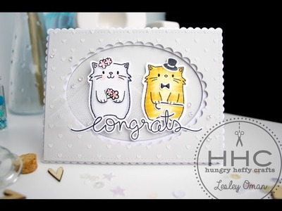 Mama Elephant Page Huggers Card - Congratulations - Kitty Wedding Card