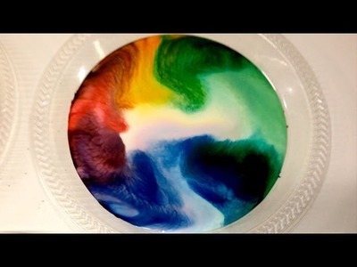 Milk Food Coloring And Dish Soap Experiment ~ Incredible Science