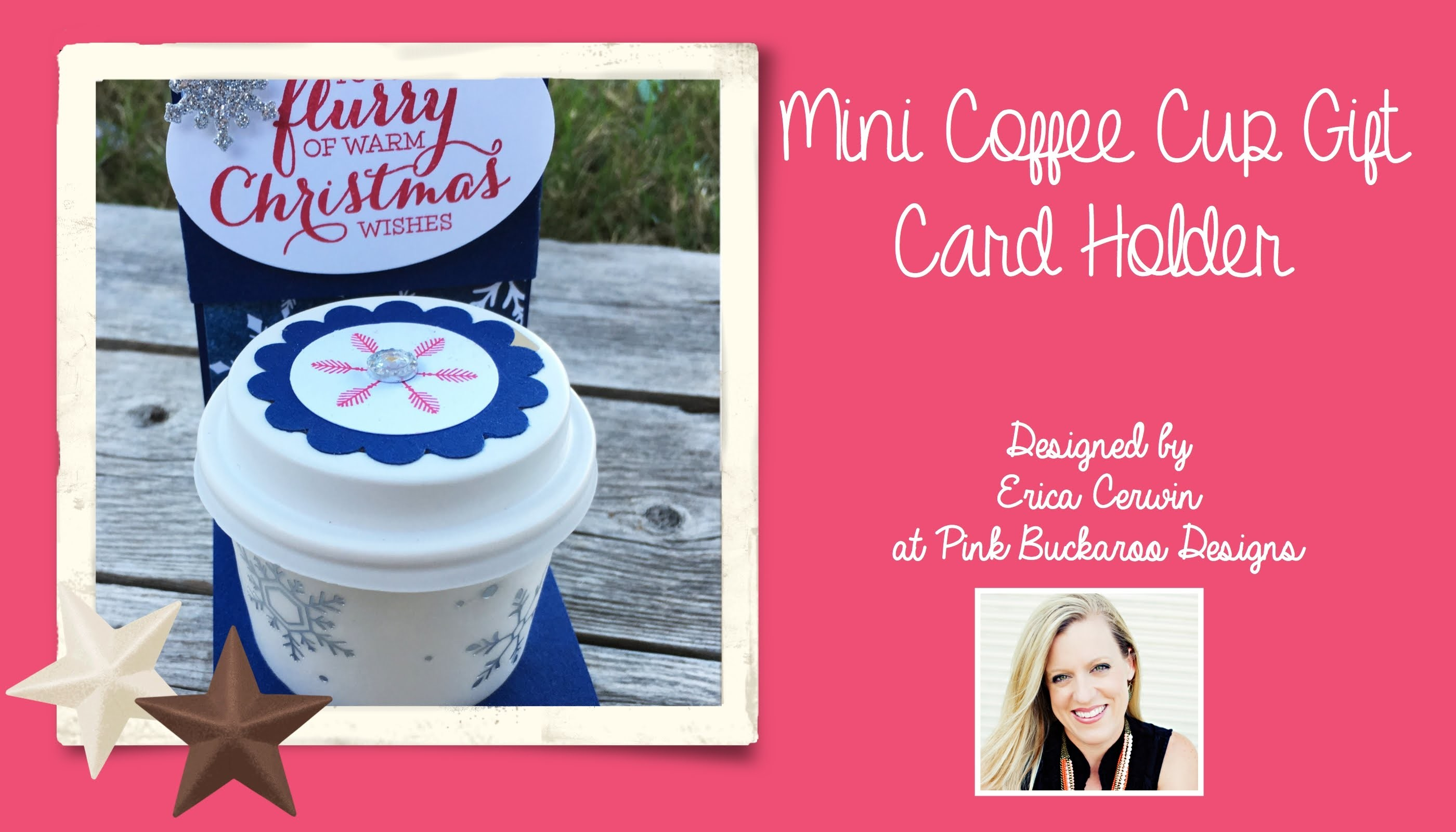 Mini Coffee Cup Gift Card Holder