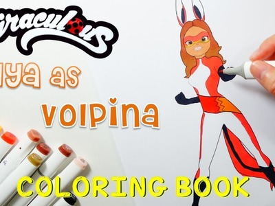 Miraculous Ladybug Coloring Book Pages Alya as Volpina   Evies Toy House