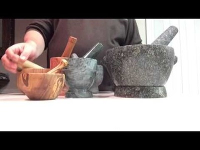 Mortars and pestles(Granite, Marble, Olive wood, American oak wood, Volcanic rock)