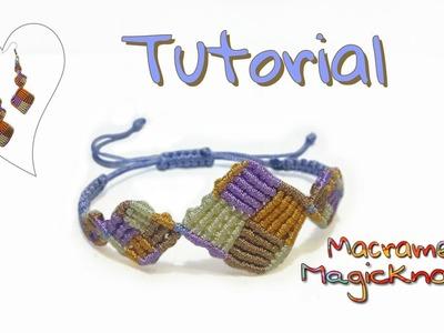 Multicolored Macrame Square Bracelet Tutorial ♥ Magic Knots ♥