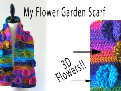 My Flower Garden Scarf Tutorial