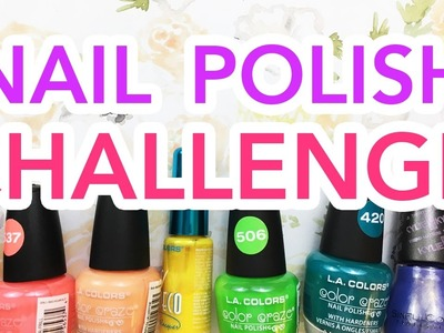 NAIL POLISH CHALLENGE!!! ~Painting a Picture with Nail Polish!~