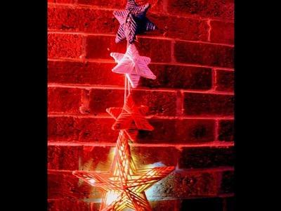Newspaper Stars Christmas Decor