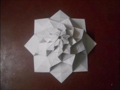 Origami 8 petal flower tower by Chris K.Palmer
