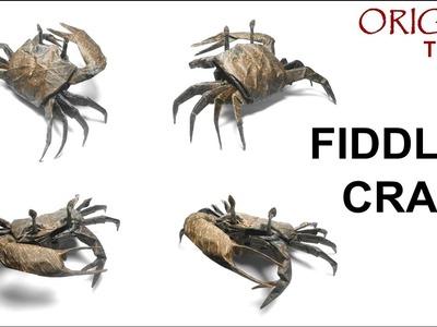 Origami Fiddler Crab tutorial (Satoshi Kamiya) 折り紙  シオマネキ  оригами учебник  Манящий краб